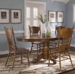oak dining room set liberty furniture indastries nostalgia 5 oval dining room set in oak efurniture mart