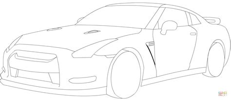 nissan gtr coloring page  printable coloring pages