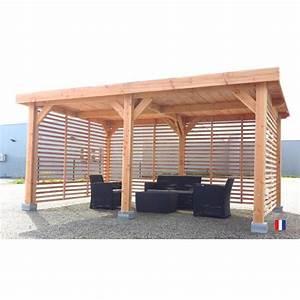 Toit En Bois : abri multifonction douglas france toit plat achat ~ Melissatoandfro.com Idées de Décoration