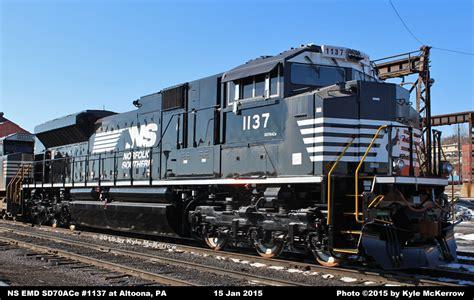 NS Diesel Locomotive Roster - EMD SD70ACe Nos. 1000-1174