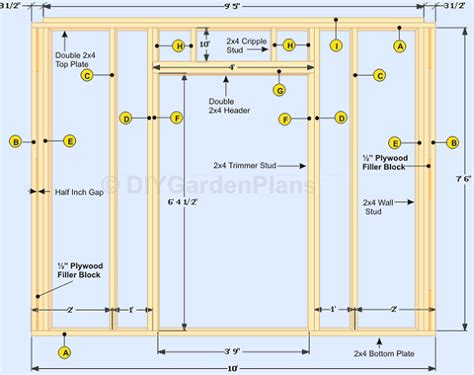 deliza detail 10x10 gable shed plans free