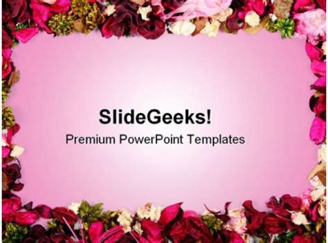 dried flowers frame background powerpoint templates