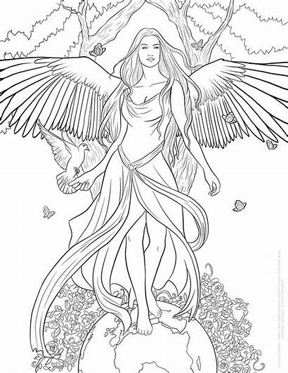 Coloring Pages Adult Fairy Angel Crazy