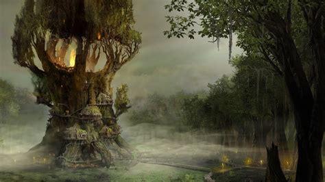 fantasy art forest drawing digital art wallpapers hd