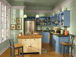 12 easy ways to update kitchen cabinets hgtv With best brand of paint for kitchen cabinets with wall art with lights