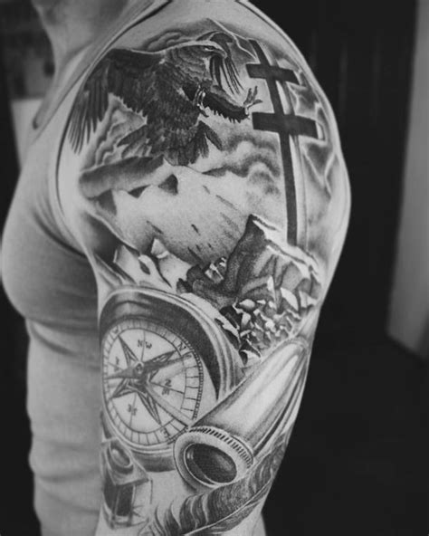 Compass Tattoo Designs with Meaning - Nautical Compass