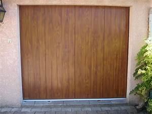 porte de garage laterale decor bois alu vigouroux With porte de garage en bois