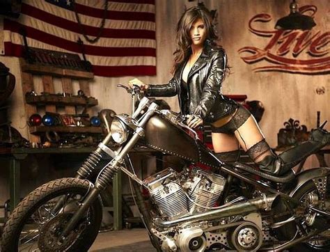 tumblr hot shopper pugbobber biker girl motorcycle