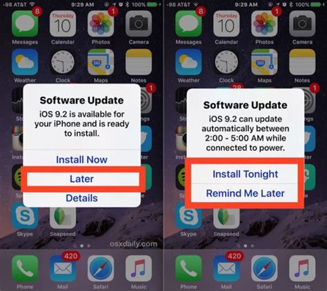 iphone ios update automatically install ios software update in the middle of