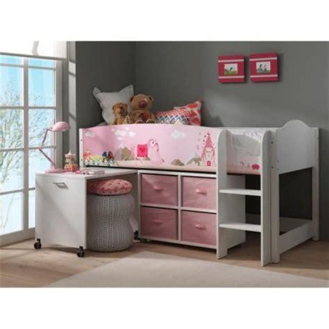lit combine bureau fille decoration et mobilier chambre de fille baldaquin lit