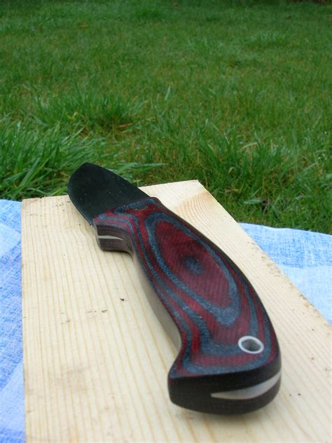 fitting micarta knife scales