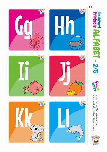 Alfabet Printable Flashcard Indonesia Hijaiyah Gratis Flash