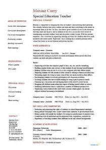 special ed resume objective special education resume sle exle template class management school career