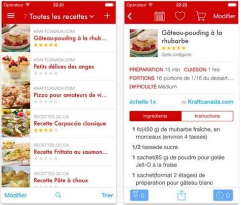 liste de recette de cuisine dossier gourmand plus de 18 applis de recettes de cuisine sur iphone et iphone x 8
