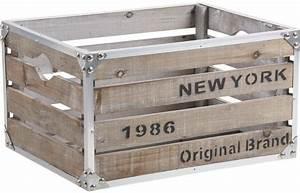 Caisse Metal Rangement : caisse new york bois et m tal ~ Teatrodelosmanantiales.com Idées de Décoration
