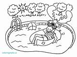 Suit Bathing Coloring Pool Swimming Pages Getdrawings Getcolorings Sheets sketch template