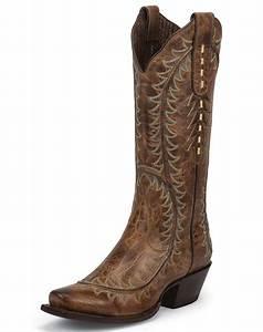 Nocona Women's Karma 13' Snip Toe Cowboy Boots - Tan