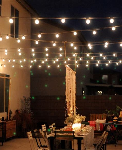hanging globe lights outdoors outdoor magic how to decorate with lights
