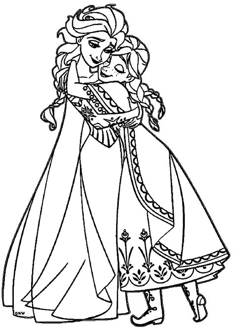 Fresh Princess Elsa Coloring Pages Collection Printable