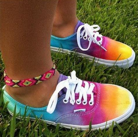 creative rainbow colored shoes hative