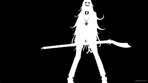 black  white anime  wide wallpaper hdblackwallpapercom
