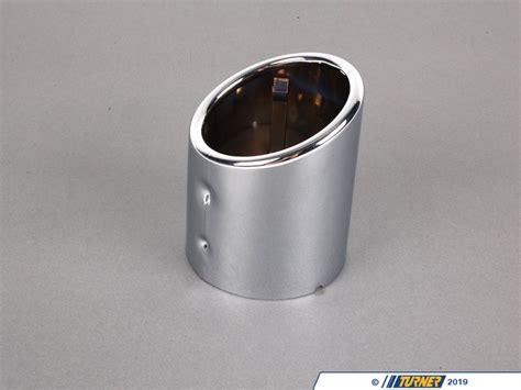 genuine bmw chrome exhaust tip
