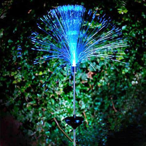 solar fibre optic led light garden patio color changing