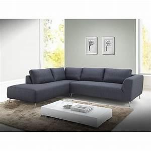 Canape d39angle cote gauche design 5 places avec meridienne for Tapis couloir avec canapé d angle gauche gris