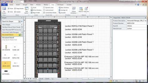 visio  network rack diagram tutorial part  adding