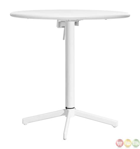 white round outdoor table big wave white round folding table zuo modern 703045