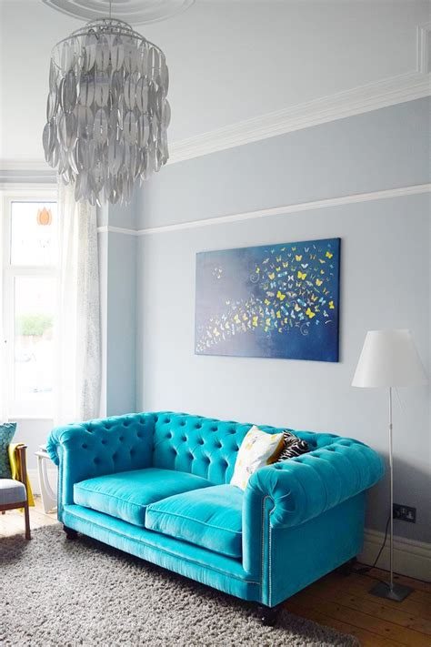 turquoise settee our splurge of the year house on the corner