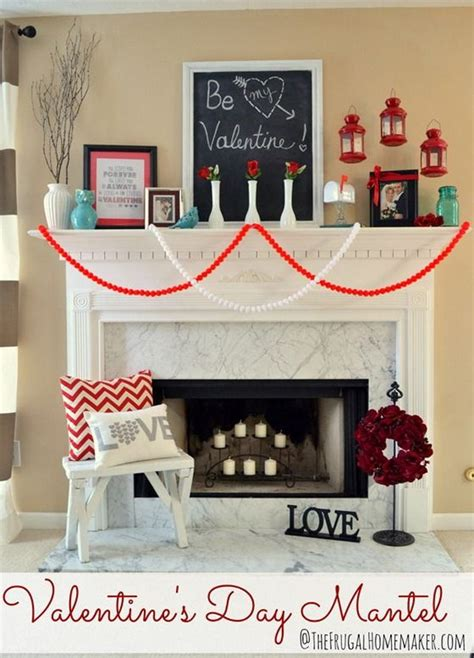 beautiful valentines day mantel decorations