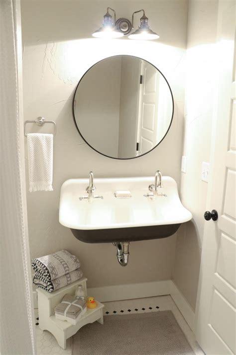 mirror  wall  metal bathroom sink hgtv