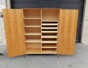 1940s, Minimalist, Storage, Cabinet, In, Elm, Made, At, Nk, Stockholm