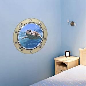 Stickers Muraux Trompe L Oeil : sticker muraux trompe l 39 oeil sticker mural tortue de mer ~ Dailycaller-alerts.com Idées de Décoration
