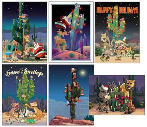 There are endless customizations you can add to our cards; Stonehouse Collection: Western Christmas Cards Variety Pack