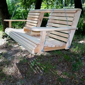 Build a wood porch swing with cup holders! DIY projects