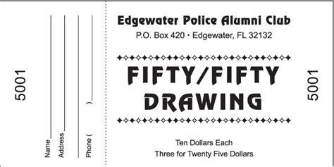 raffle ticket templates excel xlts