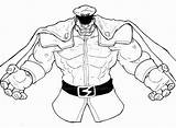 Bison Deviantart Coloring Pages Fighter Street Master Shadowloo Larger Credit Sketch sketch template