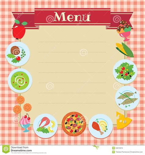 Free Menu Templates by Blank Menu Template Free World Of Printable And