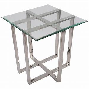 Tisch Glas Metall : beistelltisch quadratisch glas metall tisch glas verchromt metall h he 62 cm ~ Markanthonyermac.com Haus und Dekorationen