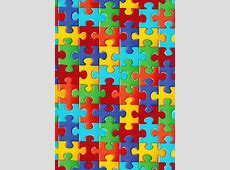 Autism Awareness Puzzle Pieces Fabric