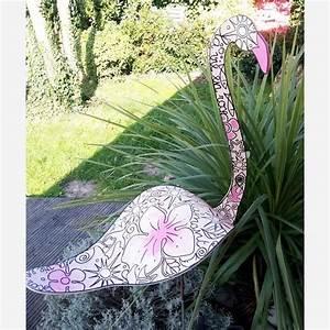 Statue Flamant Rose : flamant rose jardin japonais d co jardin zen jardin de cur ~ Teatrodelosmanantiales.com Idées de Décoration
