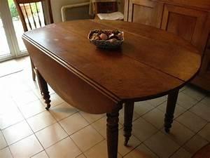 Chaise Moderne Avec Table Ancienne : table ronde ancienne occasion clasf ~ Teatrodelosmanantiales.com Idées de Décoration