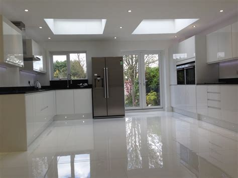 kitchen cabinets gloss white kitchen floor tiles trends in interior white