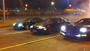 Illegal Street racing in Oakland - DSM vs Corvette - YouTube
