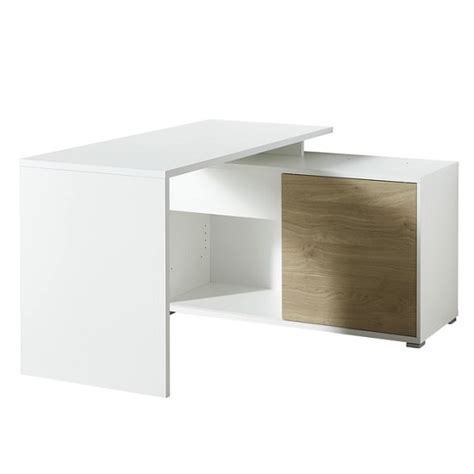 white corner desk with storage artur corner computer desk in white and kendal oak with