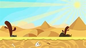 Animated Cartoon Of Desert Dunes On Sunrise Stock Footage ...