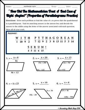 properties of parallelograms worksheet calleveryonedaveday