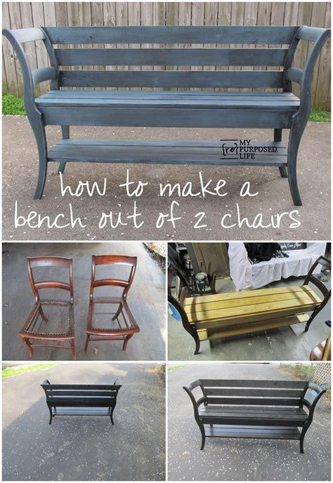 Bank Aus Alten Stühlen by 2 Repurposed Chairs Plus 1 Bench Failure Ideen Rund Ums